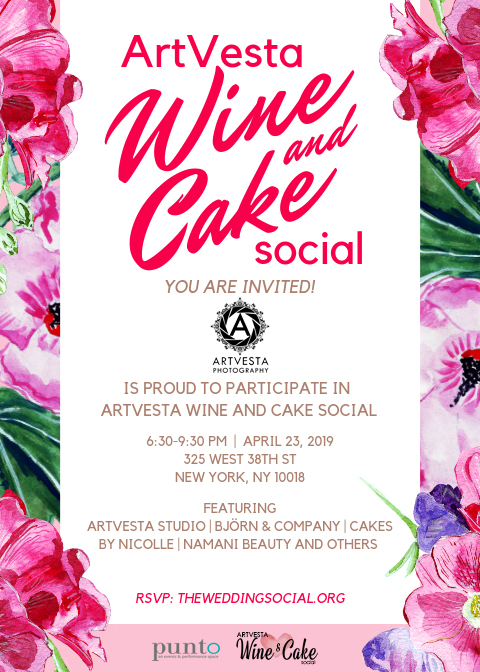 ArtVesta Wine & Cake Invitation 2019